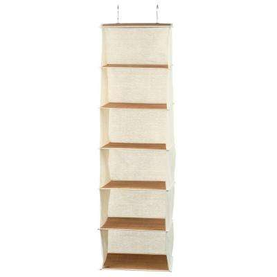 Hanging Organizer in Canvas and Bamboo