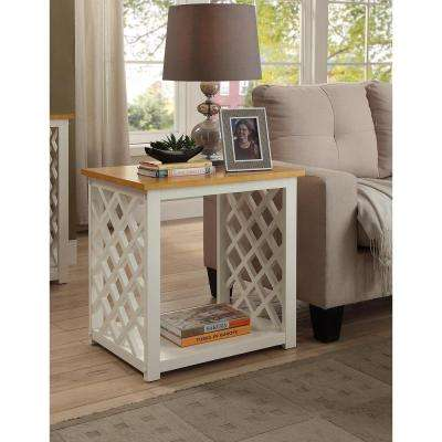 Cape Cod White and Pine End Table
