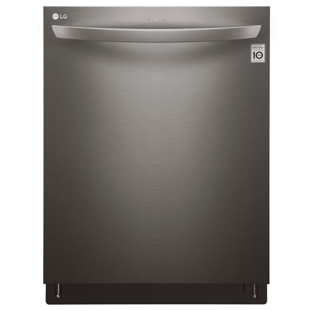 LG Top Control Tall Tub Dishwasher in Black Stainless Ste...