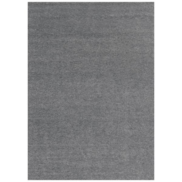 Unbound Smoke Gray Ribbed 6 ft. x 8 ft. Indoor/Outdoor Area Rug