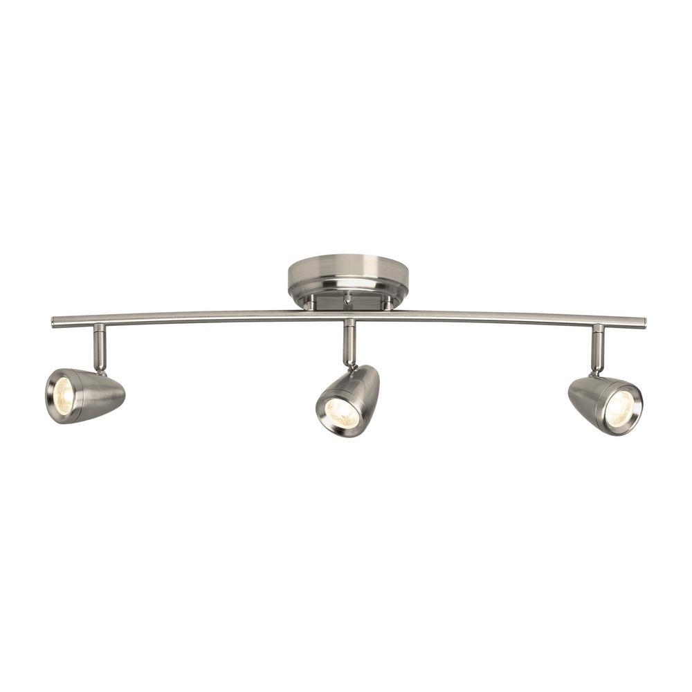 Sea Gull Lighting Talida 2 Ft Brushed Nickel Integrated Led Curved Track Kit