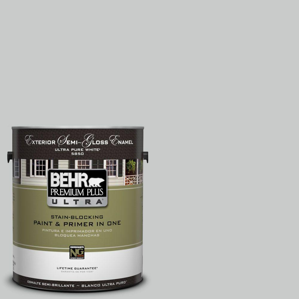 BEHR Premium Plus Ultra 1-gal. #UL260-17 Burnished Metal Semi-Gloss Enamel Exterior Paint