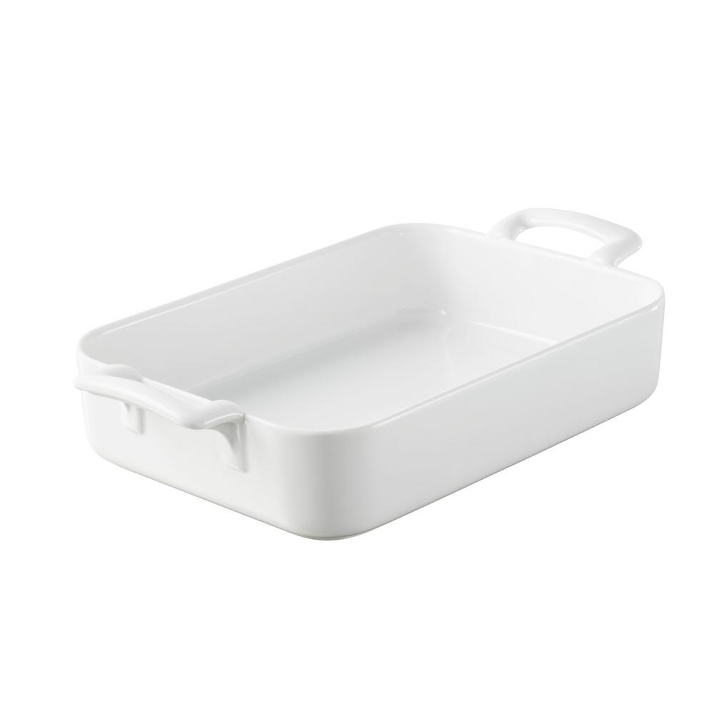 Belle Cuisine 17.25 in. x 12.25 in. Rectangular Porcelain Roasting Dish