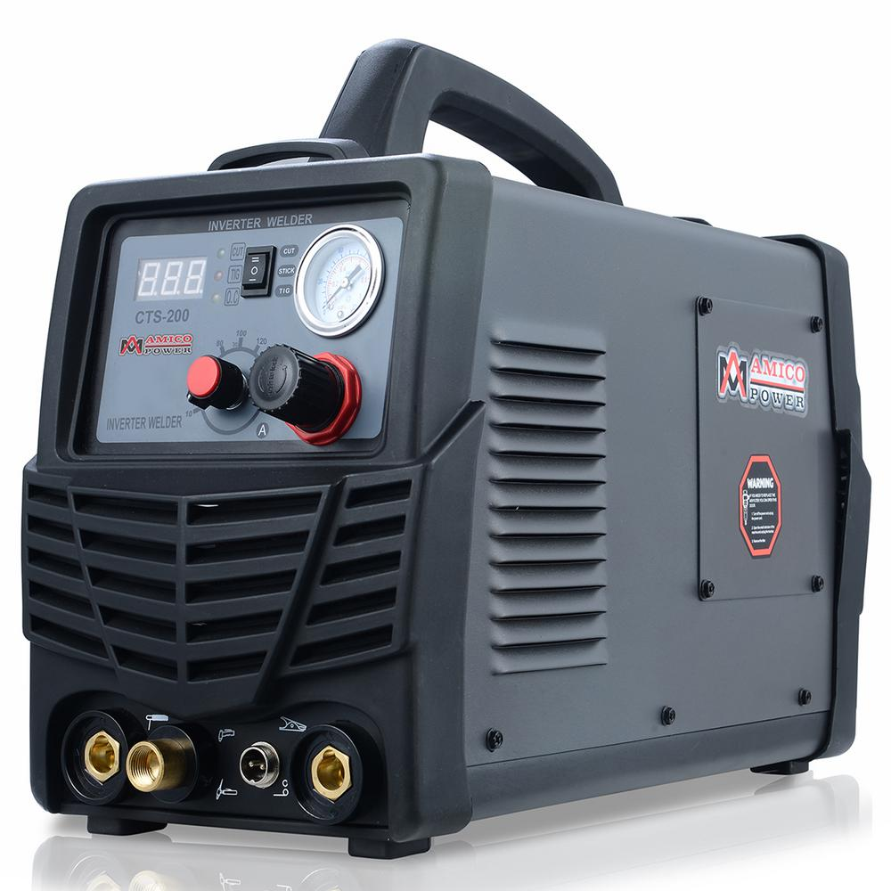 AMICO POWER Plasma Cutter/TIG/Stick Arc 3-in-1 Combo DC Welder 50A-Plasma Cutter 200A-TIG-Torch 200A-Stick Arc Welding Machine