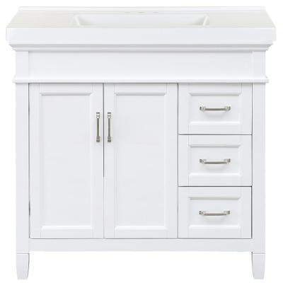 Ashburn 37 in. W x 22 in. D Bath Vanity in White with Cultured Marble Vanity Top in White with White Sink