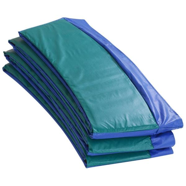 Blue/Green Super Trampoline Safety Pad Spring Cover Fits for 12 ft. Round Trampoline Frame