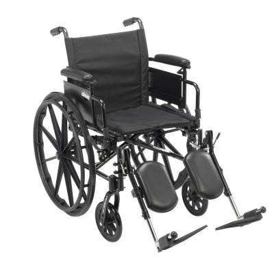 Cruiser X4 Lightweight Dual Axle Wheelchair with Adjustable Detachable Arms, Desk Arms and Elevating Leg Rests