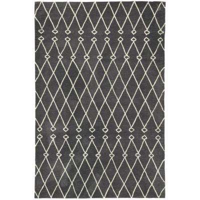Fusion Dark Gray 7 ft. 6 in. x 9 ft. 6 in. Trellis Rectangle Area Rug