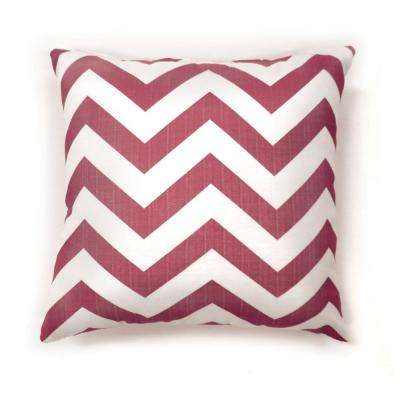 Zoe 18 in. Contemporary Throw Pillow in Red (Pack of 2)