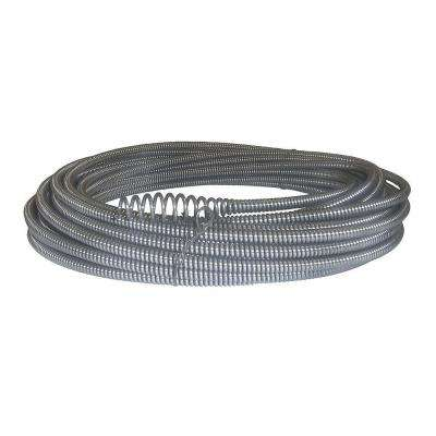 C-21 5/16 in. x 50 ft. Hollow-Core Drain Cleaning Cable with Bulb Auger
