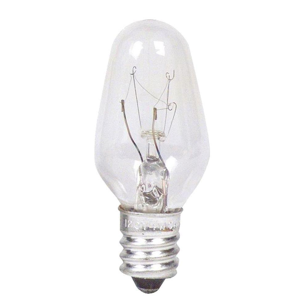 Philips 7 Watt Incandescent Clear C7 Indicator Candelabra Base Light Bulb 24 Pack 373787 The