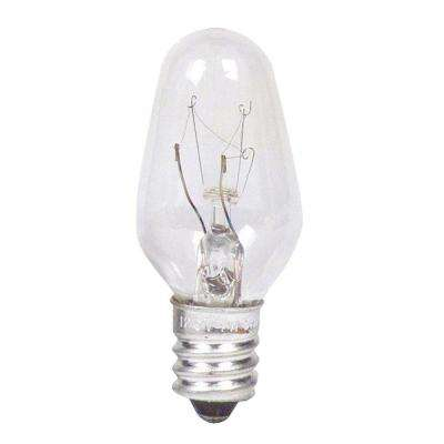 7-Watt Incandescent Clear C7 Indicator Candelabra Base Light Bulb (24-Pack)