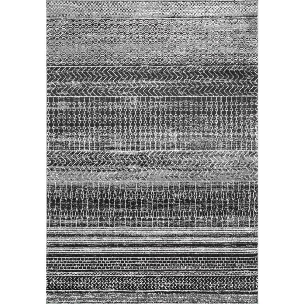 Nuloom Nova Stripes Dark Grey 7 Ft X 9 Area Rug