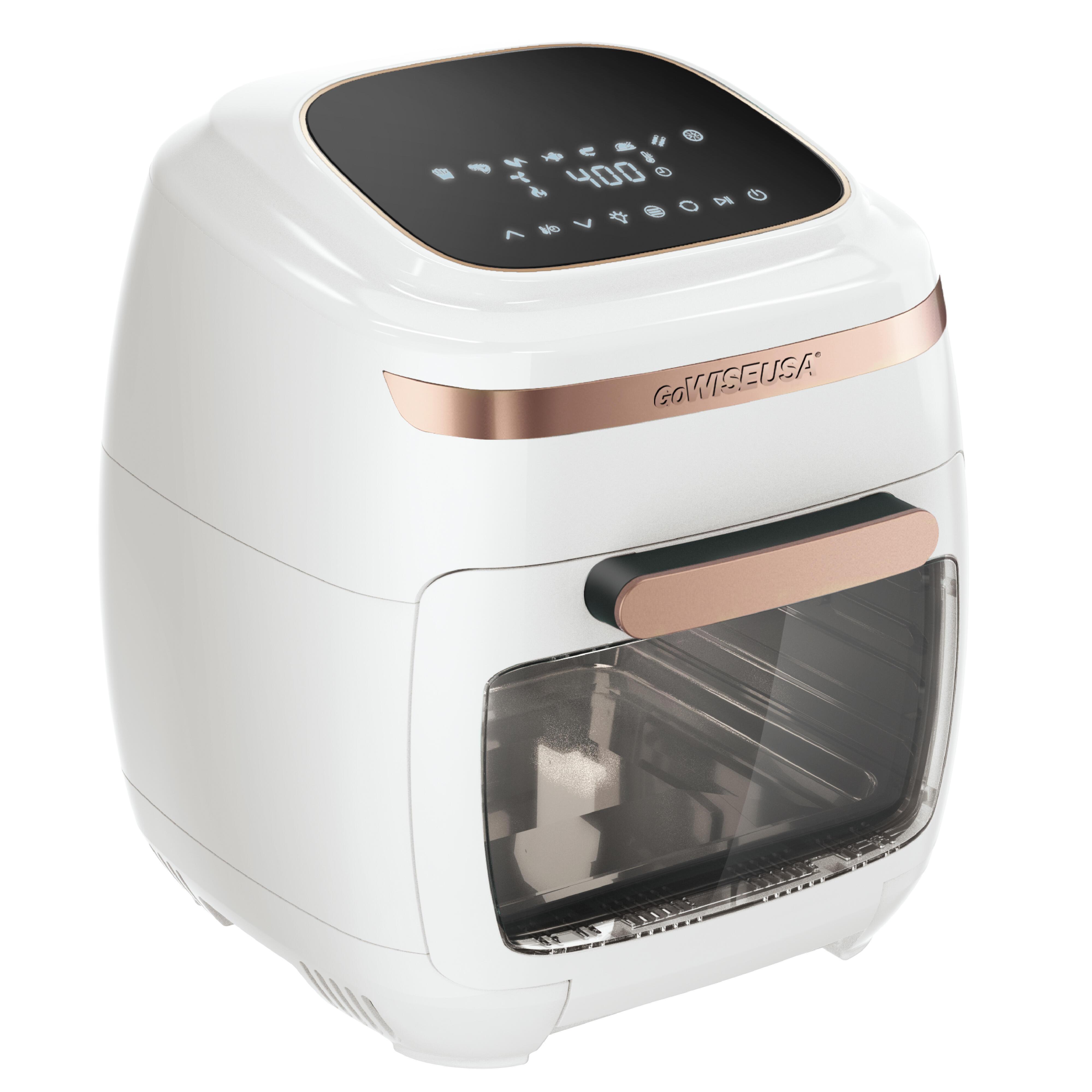 GoWISE USA 1700-Watt White/Rose Gold Multi-Vibe Air Fryer Oven