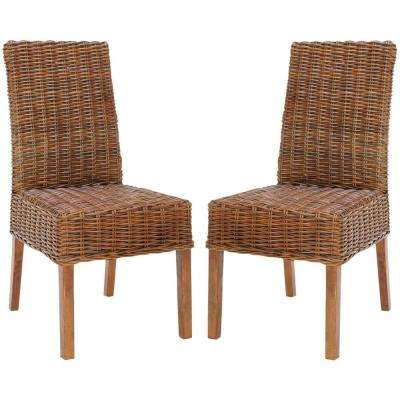 Sanibel Light Brown Mango Wood Side Chair (Set of 2)