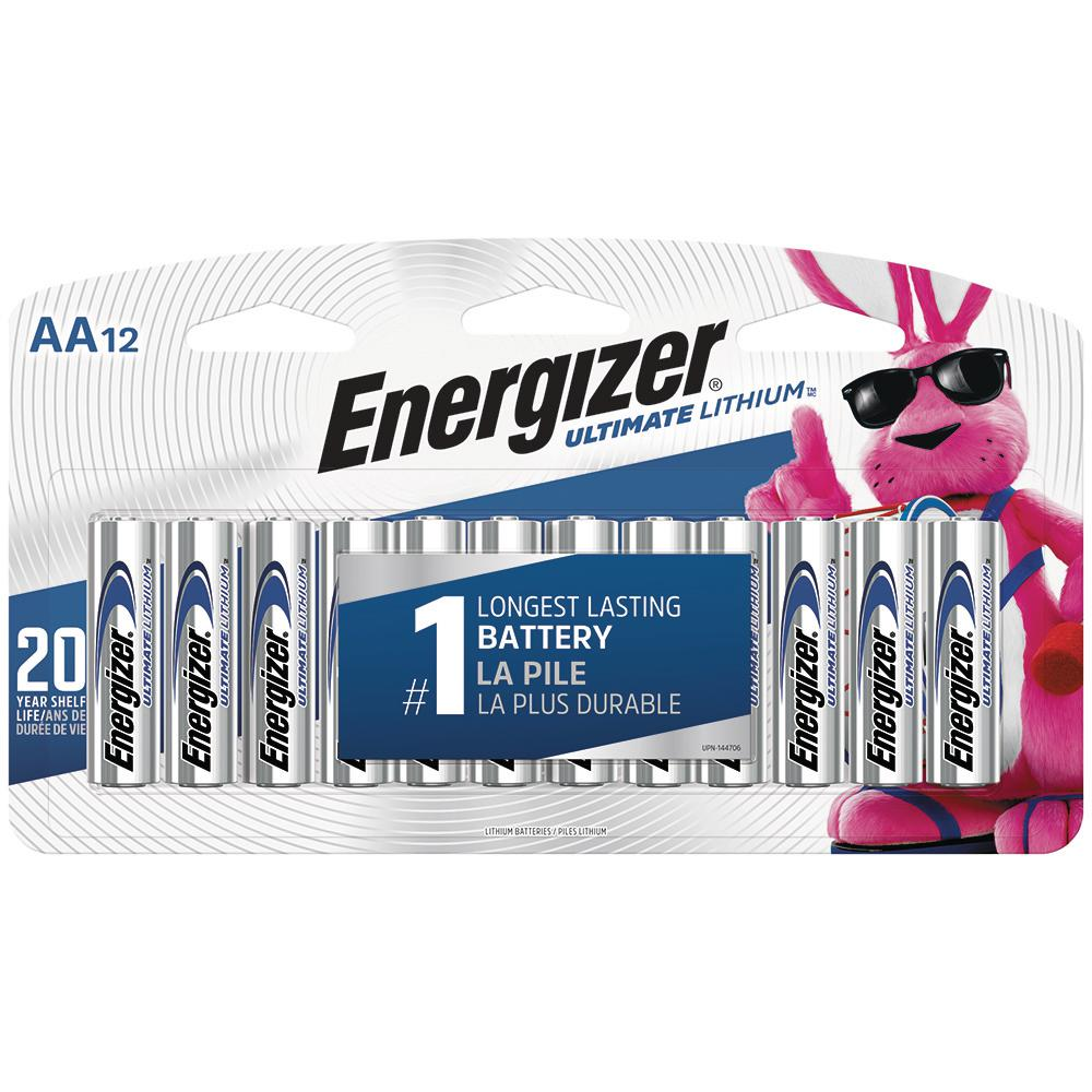 Energizer AA ultimate Lithium Battery (12-Pack)