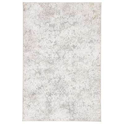 Nashua White 7 ft. 6 in. x 9 ft. 6 in. Damask Rectangle Rug