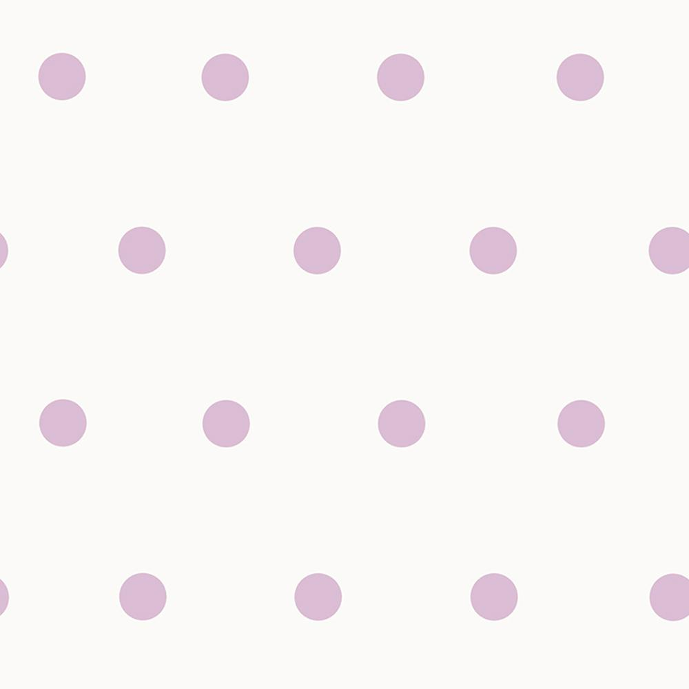 Chesapeake Kenley Purple Polka Dots Wallpaper