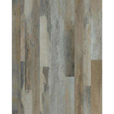 Harvest Distressed Wood 7 in. x 48 in. Peel and Stick Wall and Floor Luxury Vinyl Planks (23.33 sq. ft. per case)