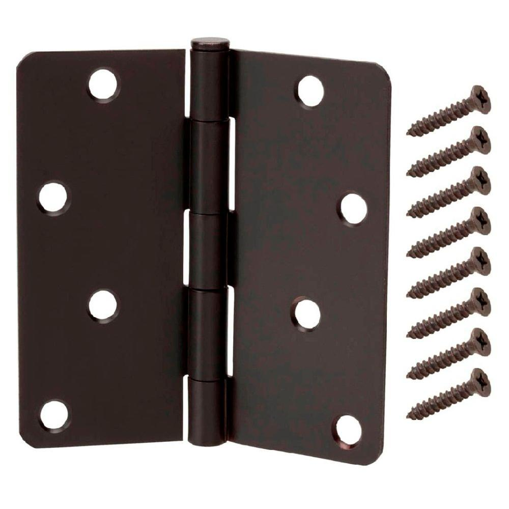 4 In Oil Rubbed Bronze 1 Radius Door Hinge