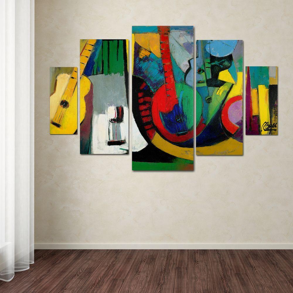 Trademark Fine Art Strings by Boyer 5-Panel Wall Art Set
