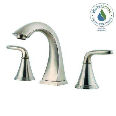 Pasadena 8 in. Widespread 2-Handle Bathroom Faucet in Brushed Nickel