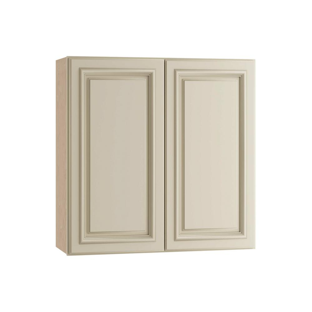 Home Decorators Collection 30x30x12 in. Holden Assembled Wall Double Door Cabinet in Bronze Glaze