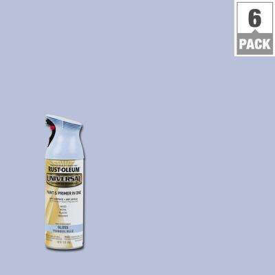 12 oz. All Surface Gloss Tranquil Blue Spray Paint and Primer in One (6-Pack)