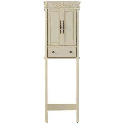 Chelsea 22 in. W x 72 in. H x 11 in. D 2-Door Over the Toilet Storage Cabinet in Antique White