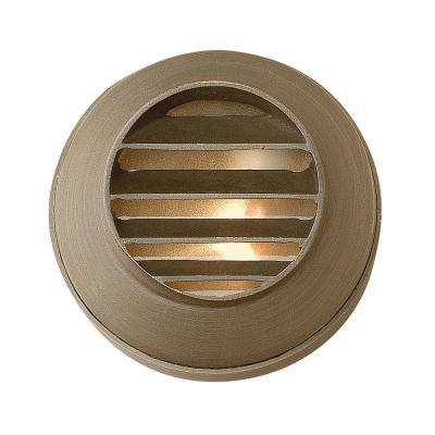Hinkley Hardy Island Round Louvered Matte Bronze Led Deck Sconce 16804mz Ll The Home Depot