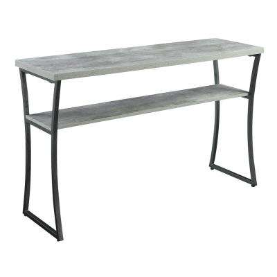 X-Calibur Faux Birch and Slate Gray Console Table