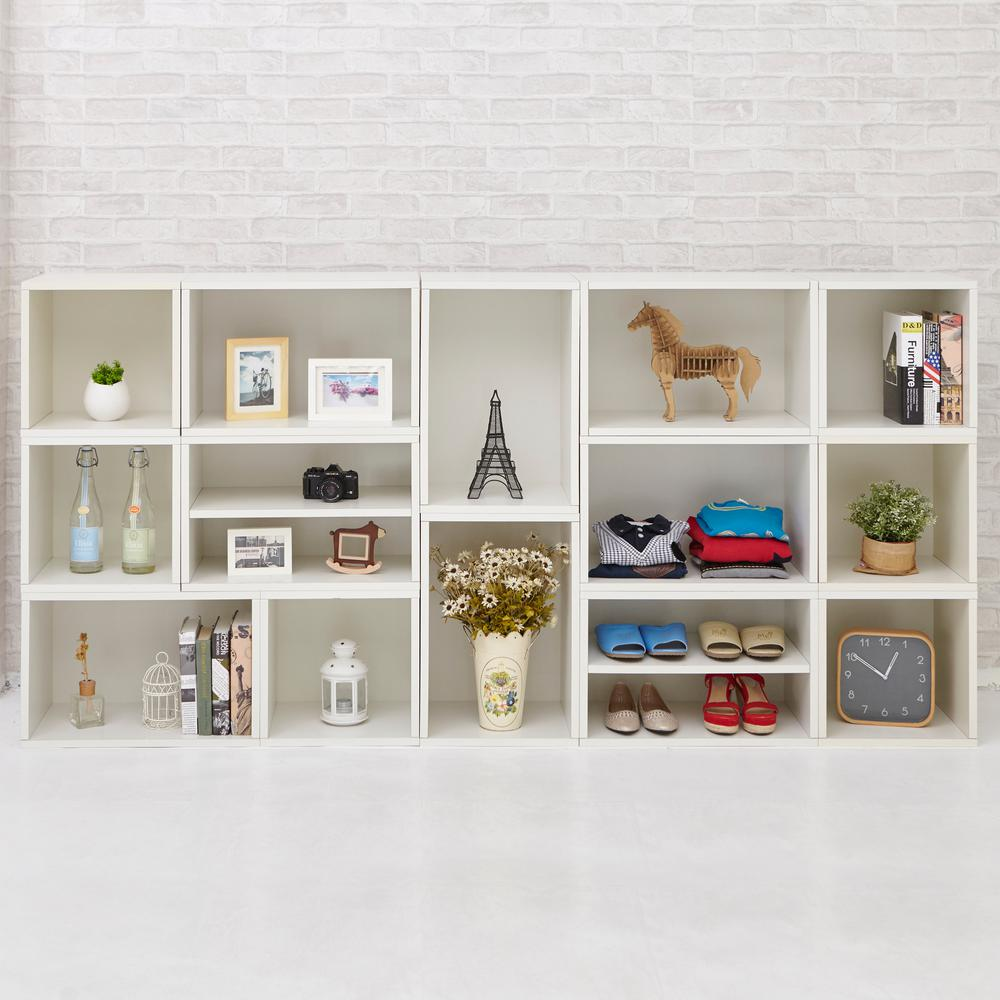 Way Basics Blox System Rome Eco zBoard Tool Free Assembly White Stackable Modular Open Bookcase