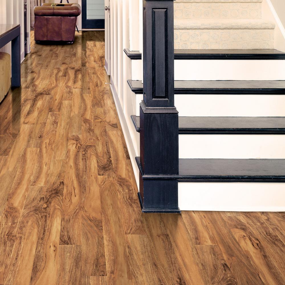 Home decorators collection high gloss natural palm 8 mm thick x 5 in wide x 47 3 4 in length laminate flooring 13 26 sq ft case