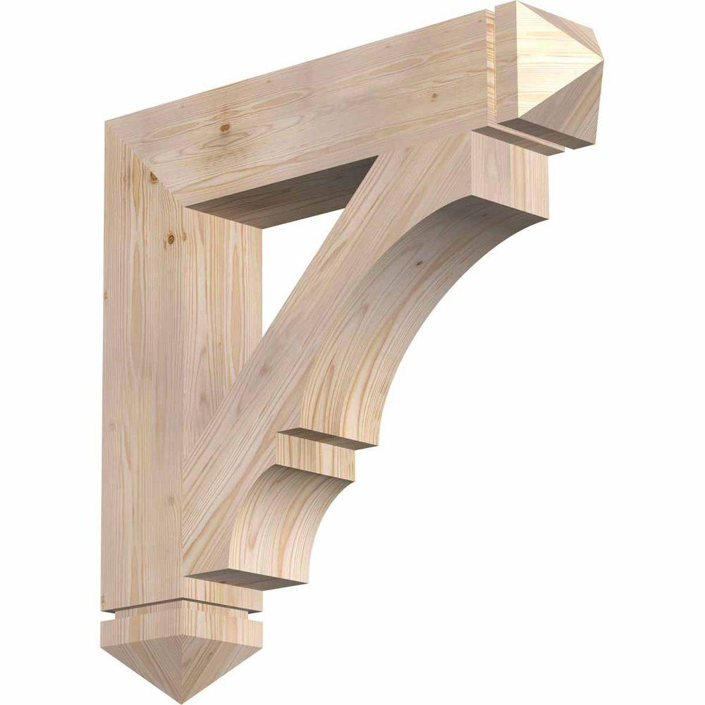 Ekena Millwork 5.5 in. x 30 in. x 30 in. Douglas Fir Balboa Arts and Crafts Smooth Bracket