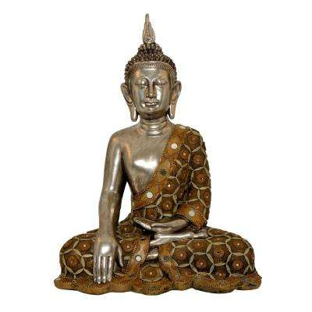 Mirrored Sitting Buddha Statue