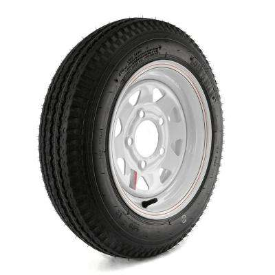 480-12 Load Range B 5-Hole Custom Spoke Trailer Tire and Wheel Assembly