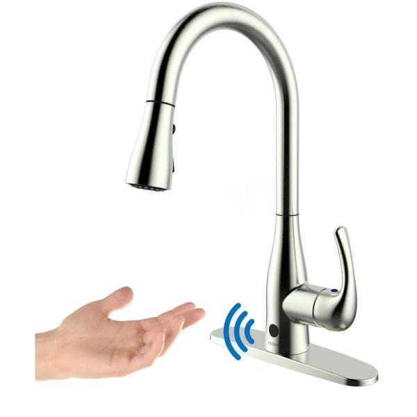 FLOW Motion Activated Single Handle Pull Down Sprayer Kitchen