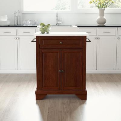 Lafayette Mahogany Portable Kitchen Island/Cart with Granite Top