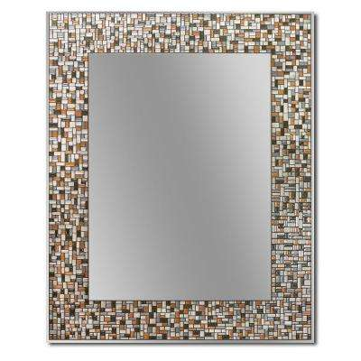 30 in. L x 24 in. W Melrose Mosaic Tile Single Wall Mirror
