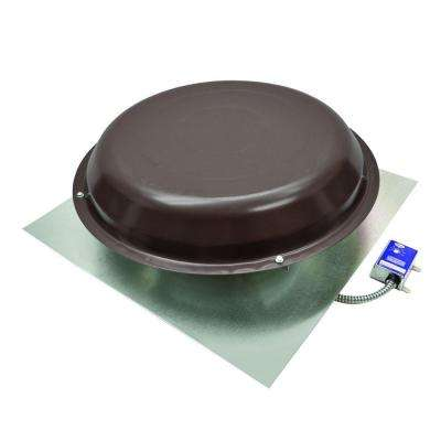 1250 CFM Power Roof Mount Vent in Brown