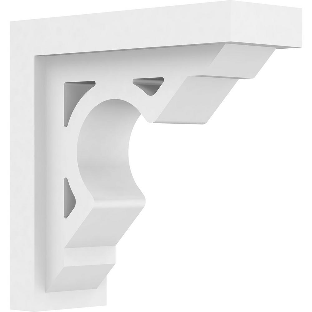 Ekena Millwork 3-1/2 in  x 10 in  x 10 in  Standard Sherwood Unfinsihed  Architectural Grade PVC Bracket