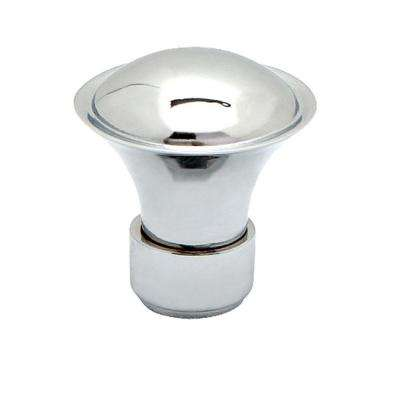 Geometrics 1-1/8 in. (28mm) in. Polished Chrome Banded Spindle Cabinet Knob