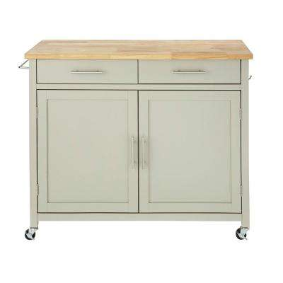 Glenville Grey Kitchen Cart