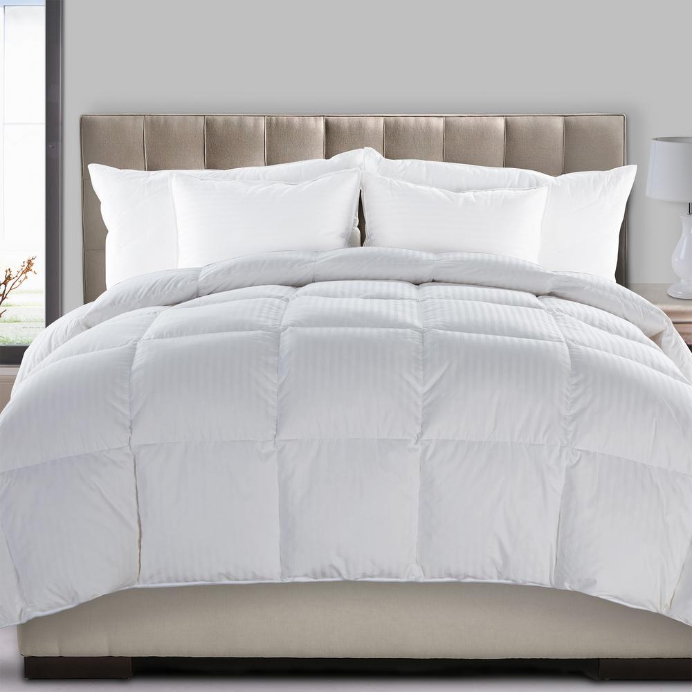 Ultra White Solid Full/Queen Comforter