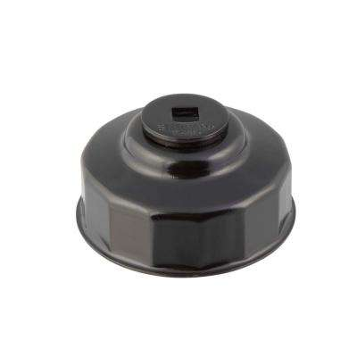 76 mm x 14 Flute Oil Filter Cap Wrench in Black