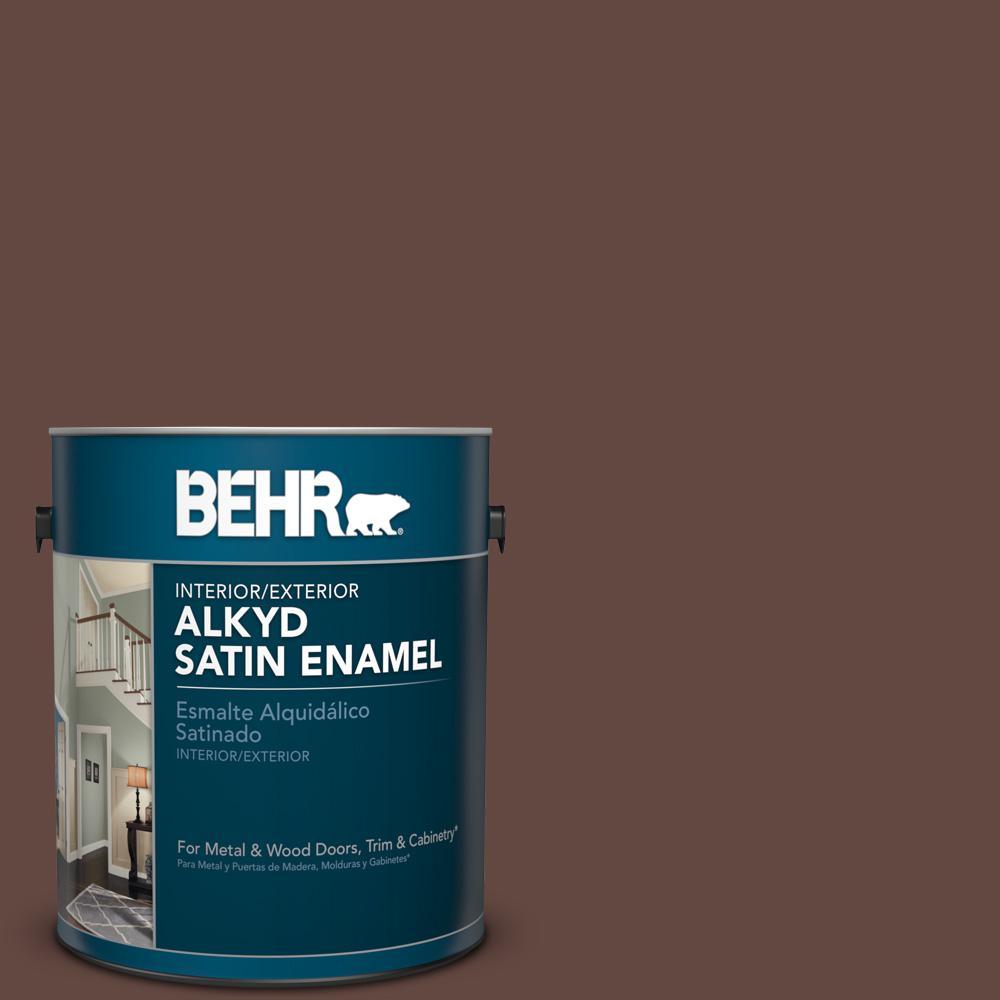 1 gal. #PPU3-20 Cinnabark Satin Enamel Alkyd Interior/Exterior Paint