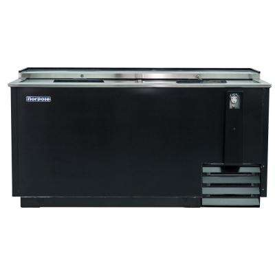 65 in. W 18 cu. ft. Sliding Door Beer Cooler in Black