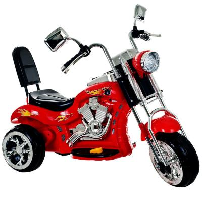 3-Wheel Battery Powered Ride on Toy Motorcycle Chopper in Red