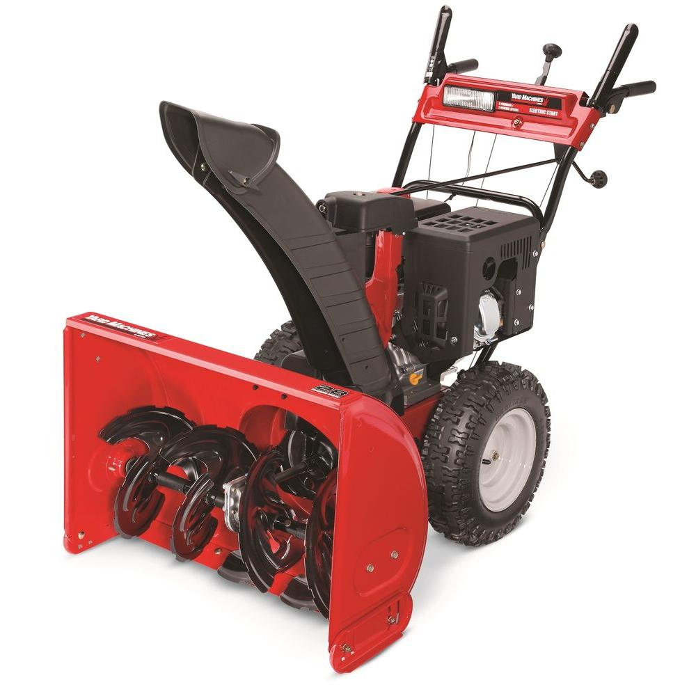 Yard Machines 28 in. Two-Stage Electric Start Gas Snow Blower-DISCONTINUED