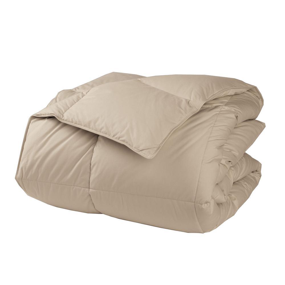 LaCrosse LoftAIRE Feather Tan King Medium Comforter